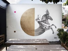 TAG GOLD_01 1024x768 #horse #mural