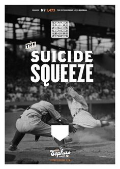 Suicide Squeeze Â« Eephus League #baseball #poster