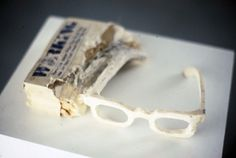 Todd Knopke : Working #glasses #sculpture #book #art