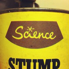 Science Can #tin #science #typography