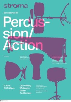 Stroma: Percussion/Action on Dropula - The inspirational catalogue #poster #typography