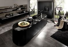 Interior Design Trends 2015 The Dark Color Schemes are Back supermatt black kitchen #design #black #colors #kitchen #dark