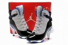 Nike Air Jordan 6Ring Heels White Black/White/Blue #shoes