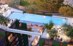 World's first 'sky pool' #EmbassyGardens #NineElms #London #SkyPool