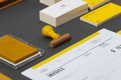 Acre #ink #business #branding #packaging #card #print #design #yellow #black #brand #identity #package #typography