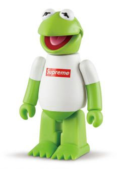 Kermit the Frog Supreme Bear Brick #brick #medicom #corp #the #supreme #kermit #bear #toy #frog