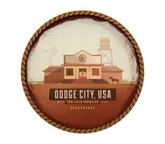 Dodge City - The Everywhere Project #wild #colin #old #west #frontier #city #dodge #illustration #hesterly #type #lost