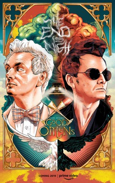 Good Omens : Alternate Movie Poster - The Commas