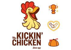 The Kickin' Chicken | Fuzzco #logo #design #icons