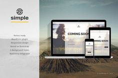Simple is a stylish responsive coming soon template with minimalistic and universal design. It was carefully designed to convey elegance thr