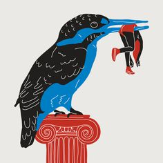 Kingfishers, 2012 #illustration