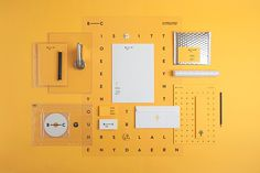 Awesome identity system by Noeeko #branding #yellow #identity #logo #typography