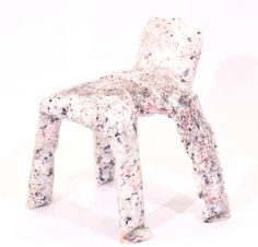 Frumpy Chair by Jamie Wolfond #design #art #furniture #white #chair #plastic #risd #frumpy
