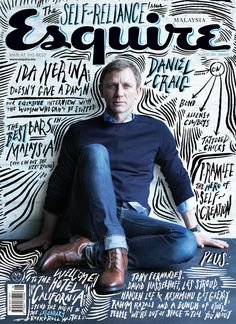 Esquire Cover with beautiful typography #lettering #esquire #daniel #hand #craig #typography