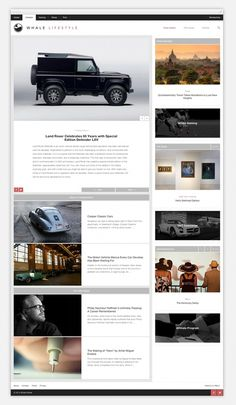 Whale Lifestyle by R&Co. Design #responsive #design #website #grid #minimal #wordpress #web