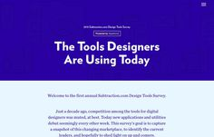 Tools Survey, inspiration N°447 published on The Gallery in date October 17th, 2015. #website