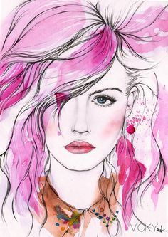 Illustration | Page 1 | Creative Boom Magazine #girl #pink #watercolour #paint #beauty