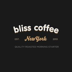 Bliss Coffee #logo #branding #typography