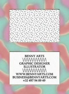 Benny Arts #card #print #pattern #business