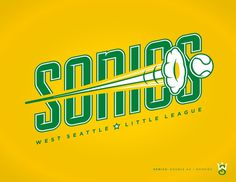 West Seattle Little League - danlustig.com #vector #seattle #sonics #sports #baseball #logo #typography