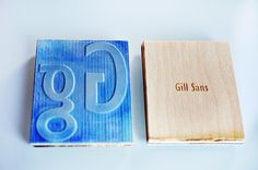 Gill Sans Type Specimen by Niermala B. Timmers www.niermalatimmers.com #print #engraving #press #wood #stichting #booklet #paper #font #ink #rubber #design #book #laser #cutting #lasercut #bleu #type #stamp #specimen #letterpress #orange #engravement #typography #gill #timmers #carving #sans #graphic #niermala #bookbinding
