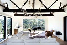 Calm, Natural and Open Guest House open space living room #piano #decor #living #home #room