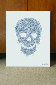 skull_poster04 #line #illustrations #arts #poster #skull #organic #detail