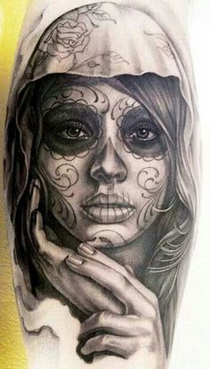 Sugar Skull Tattoo Meaning #tattoo #bodyart #tattooDesign