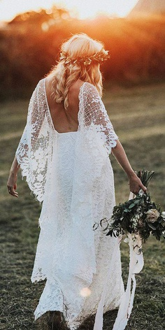 rustic lace wedding dresses sheath with blowing sleeves lace embellishment grace loves lace