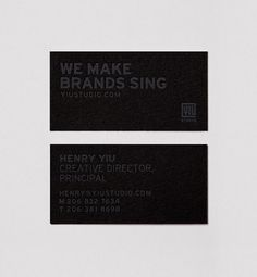 Yiu Studio Business Cards on the Behance Network