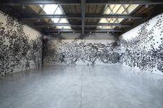 Black Paper Moths Cloud7 #interior #butterflies #art #paper #decoration