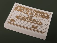 Concrete Matter Gift Certificate #certificate #gold #concrete matter #tim boelaars #illustration