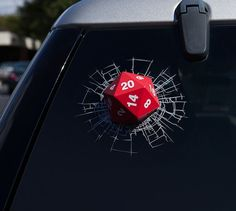 D20 3D Window Decal #decal #gadget #ticker