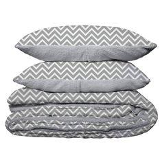 Sherpa Bedding Set Grey 220cm x 240cm
