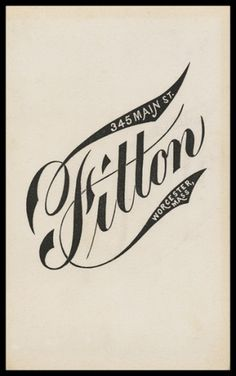 Fitton | Sheaff : ephemera #type #lettering