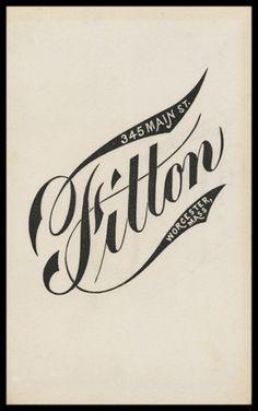 Fitton | Sheaff : ephemera #type #lettering