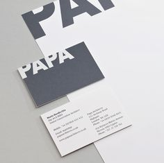 Phage Visual Communication | Showcase: Papa Architects #branding