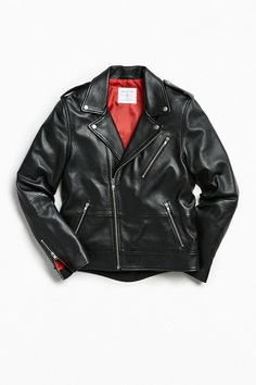 Slide View: 1: UO Leather Moto Jacket