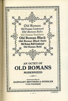 This is a showing of various roman types in the style of William Morris that were sold by BB #typography