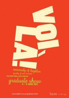 Ally Carter #red #graduate #brighton #uni #voila #poster