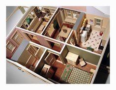Bungalow interior rear view | Flickr - Photo Sharing! #interior #miniature #diorama #art