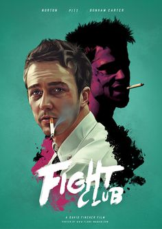 Fight Club, movie, cinema, fan art, character design, poster