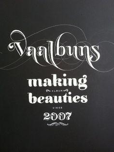 vaalbuns_chalkboard lettering_01 #illustration #lettering #chalk