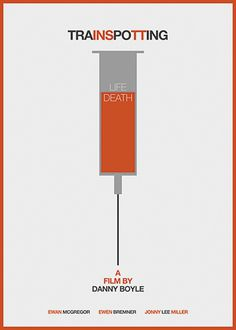 Trainspotting #minimal #poster #film #movie #orange #life #cartel #drugs #trainspotting #sandra #guerrero #Murcia #Spain