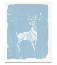 01_Wonder #deer #white #print #screen #blue #animal