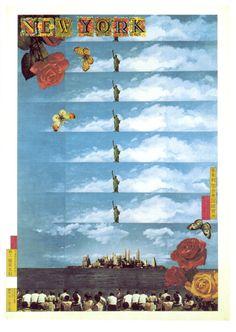 New York, Tadanori Yokoo #tadanori #yokoo #poster #york #new