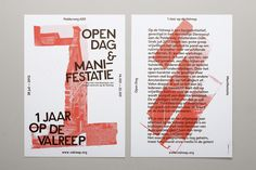 Op De Valreep 1 Year / Print Promotion on Behance #design #poster