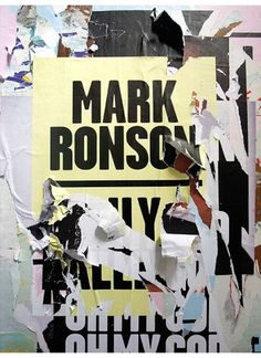 Mark Ronson : Village Green #music #print #texture