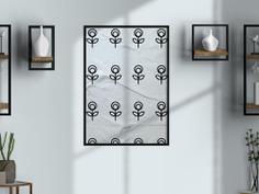 Scandinavian Small Plant Pattern Wall Art Poster Design