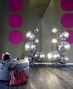 Loft ESN an Exceptional Transformation into Spacious Living Space mirrored wall reflecting tom dixon mirror ball #decor #home decor #interio
